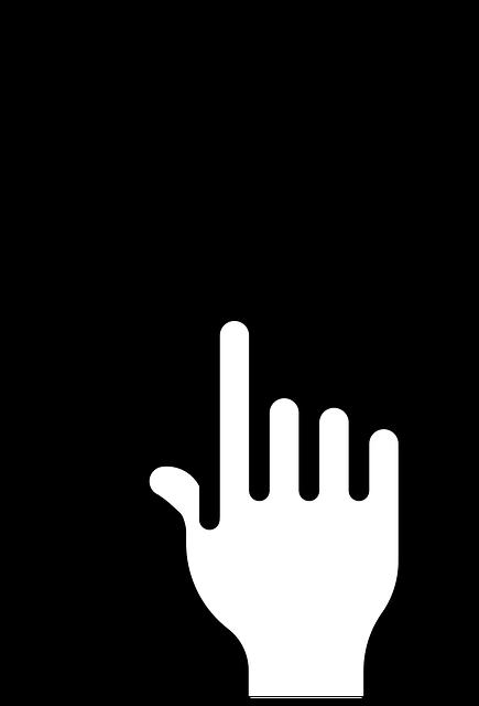 手とボタン