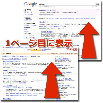 Google検索の1ページ目