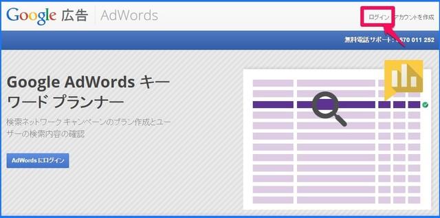 GoogleAdWordsキーワードプランナー